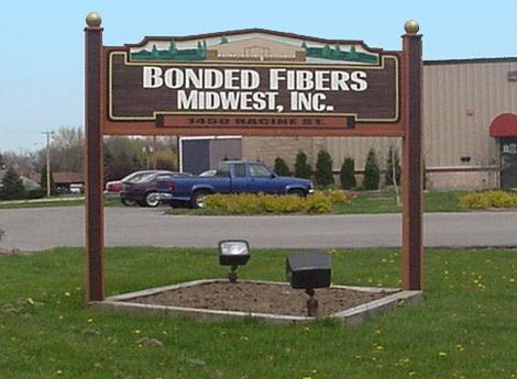 Bonded Fibers Midwest, Inc. Sign in Delavan, Wisconsin